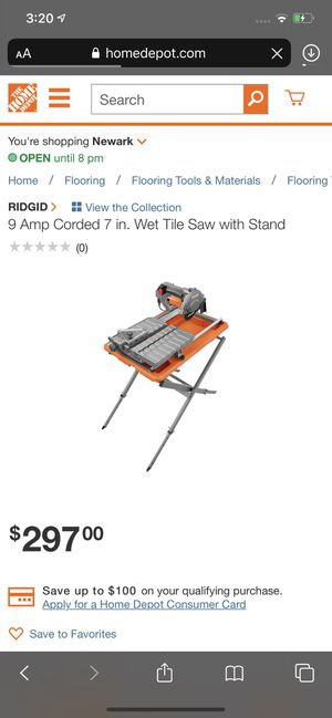Ridged wet saw for Sale in Newark, OH