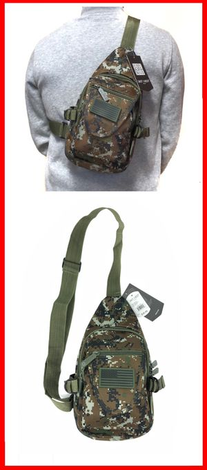 NEW! Small Compact camouflage Tactical Military Style Sling Side Crossbody Bag gym bag work bag travel backpack molle camping hiking biking chest bag for Sale in Long Beach, CA