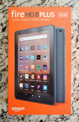 Amazon Kindle Fire HD 8 Plus (Slate) w/ No Special Offers | Brand New/Never Used! for Sale in Lynnwood, WA
