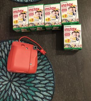 Instax 9 with 5 10-packs of film and case for Sale in Los Angeles, CA