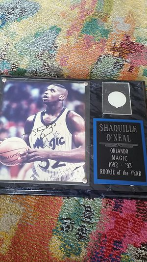 """Shaquille O'Neal """"Rookie of the Year"""" Authentic Plaque Autograph for Sale in San Diego, CA"""