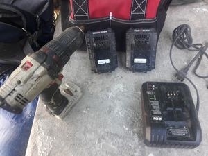 Porter & cable drill with 2x battery for Sale in Tampa, FL