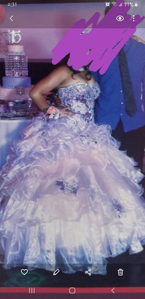 Purple and pink Quinceanera dress with shoes for Sale in Tampa, FL
