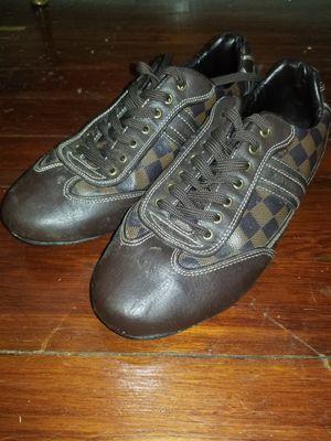 Louis Vuitton Mens Authentic Leather Brown Shoes sz 12 for Sale in Belleair, FL
