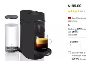Nespresso VertuoPlus Deluxe Coffee and Espresso by De'Longhi for Sale in Chamblee, GA