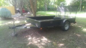 "Utility Trailer, 6' x 10', Teske Trailer, 15"" tires and wheels, 48"" Tailgate/Ramp, Title in-hand, and Road Ready.... {contact info removed} Jim for Sale in Bloomington, IL"