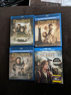Lord of the rings and the hobbit movies for Sale in Tracy, CA
