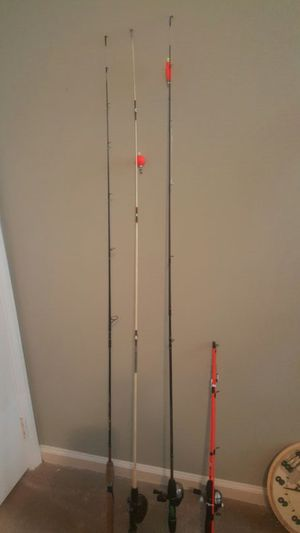 4 fishing rods 4ft -6ft long for Sale in Raleigh, NC