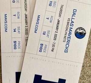 Dallas Mavericks vs. Brooklyn Nets tickets for Sale in Denton, TX