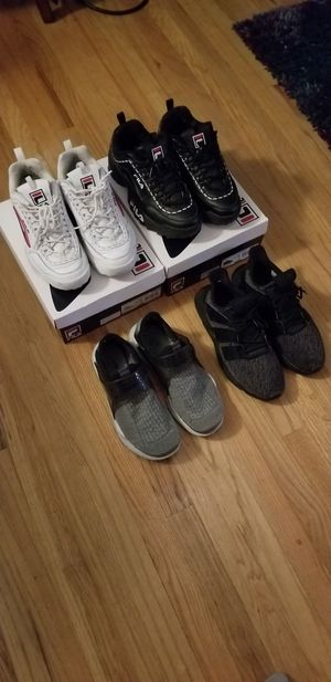 Shoes, 40 a pair, nike, adidas, fila for Sale in Seattle, WA