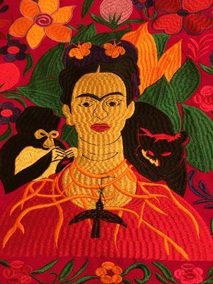 Frida Kahlo Cloth Embroidered Tote Bag - Bolsa de Frida Kahlo Bordada for Sale in Chicago, IL