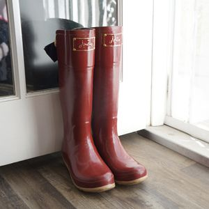 Joules Tall Red Rain Boots With Bows US 9 for Sale in Claremont, CA