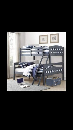Twin over full bunk bed frame for Sale in Dallas, TX