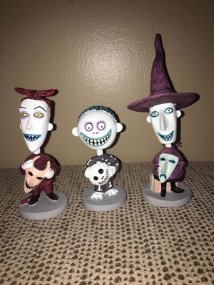 Disney Auctions Nightmare Before Christmas Shock Lock Barrel Bobble Heads for Sale in Pittsburgh, PA