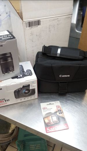Canon Rebel T6 18mp DSLR wi-if Camera with 18-55 & 75-300 Lenses. for Sale in Hanover, PA