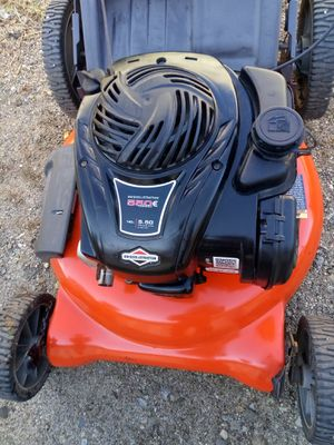 Briggs stratton husqvarna push mower running first pull good working condition 90$ for Sale in Rialto, CA