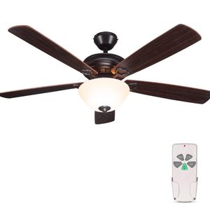 52 Inch Indoor Oil-Rubbed Bronze Ceiling Fan With Light Kits and Remote Control, Classic Style, Lifetime Motor Warranty, Reversible Blades, ETL for Li for Sale in San Diego, CA