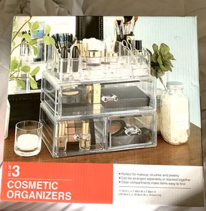 Clear/Acrylic Makeup Organizers for Sale in Portland, OR