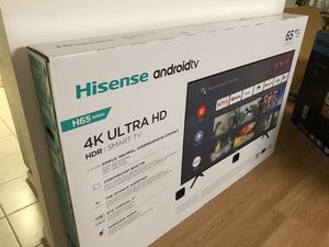 65 inches TV Hisense Android TV Brand New - $345 for Sale in MONTGOMRY VLG, MD