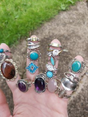 Sterling silver rings 10 each for Sale in Springfield, OR