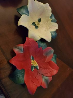 Poinsettia Candle Holders for Sale in North Aurora, IL