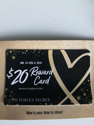 VICTORIA SECRET $20 reward card for $10 for Sale in Miramar, FL