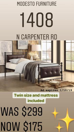 Twin frame and Mattress tooooNEW for Sale in Modesto, CA