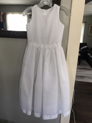 US ANGELS Girl's Size 10. Floor Length, White, Party/Flower Girl/First Communion Dress/Dress-Up Play. for Sale in Pequannock Township, NJ