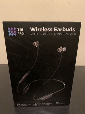 TBI Pro wireless earbuds with triple drivers 24th for Sale in Los Angeles, CA