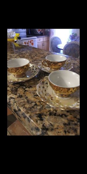 3cups and 3 saucers for Sale in Hollywood, FL