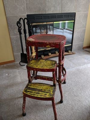 Antique red step stool for Sale in Vancouver, WA