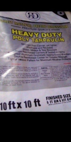 10x10ft. Heavy duty industrial white tarp new $12.00 for Sale in Los Angeles, CA