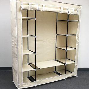 "(New In Box) $35 each Fabric Wardrobe Closet Storage Clothes Organizer 60x17x68"" (3 Colors) for Sale in South El Monte, CA"