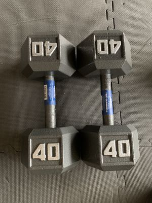 Brand new 40lb dumbbell hex weights! (Pair) for Sale in Tacoma, WA