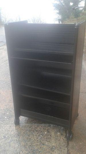 Steelcase black rolling metal bookcase for Sale in Atlanta, GA