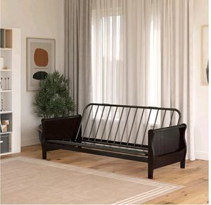 Futon frame with wood arms new in box for Sale in Las Vegas, NV