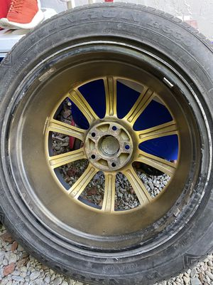 5x114 19'inch rims with 75% tread life.. for Sale in San Jose, CA