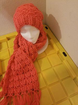 Crochet samurai hat and scarf set for Sale in Arlington, TX
