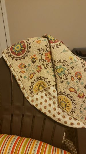 Throw blanket and roll pillow for Sale in Akron, OH