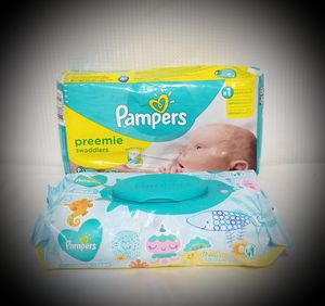 Pampers Diapers Preemies and Wipes for Sale in Omaha, NE