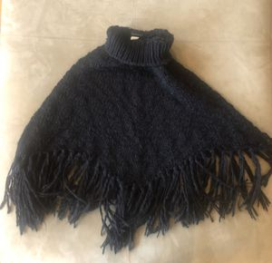 Small Black Shoulder Poncho for Sale in Atlanta, GA