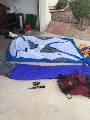 Full complete Camping pack with tent and sleeping bag. for Sale in Phoenix, AZ