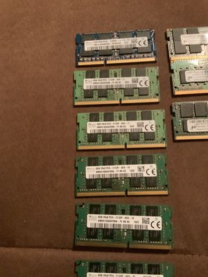 8GB DDR4 RAM \MEMORY STICKS (read details) for Sale in Chicago, IL