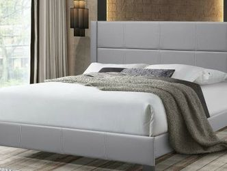 New! Grey Queen Platform Beds *FREE SAME-DAY DELIVERY* for Sale in Columbia,  MD