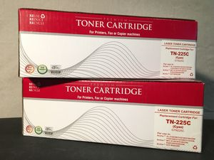 2 Brother laser printer CYAN toner cartridges TN-225C for Sale in Beverly Hills, CA