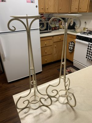 TALL CANDLE HOLDER PAIR for Sale in Kerman, CA