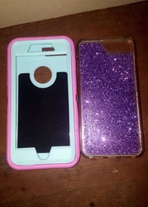 iPhone cases for 6+ 6s+ 7+ and 8+ both like new for Sale in Binghamton, NY