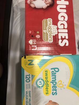 Newborn NB Huggies And Pampers Diapers for Sale in Fresno, CA
