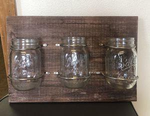 Rustic mason jar wall decor for Sale in Portland, OR