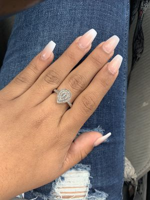 Sterling silver raindrop ring for Sale in South Houston, TX